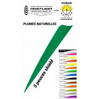 trueflight plumes naturelles shield uni 5 pouces