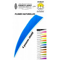 trueflight plumes naturelles shield uni 4 pouces