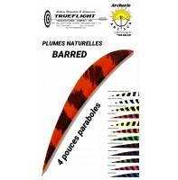 trueflight plumes naturelles parabole barred 4 pouces