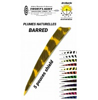 trueflight plumes naturelles shield barred 5 pouces