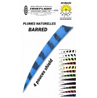 trueflight plumes naturelles shield barred 4 pouces