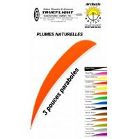 trueflight plumes naturelles paraboles uni 3 pouces