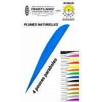 trueflight plumes naturelles paraboles uni 4 pouces