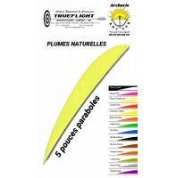 trueflight plumes naturelles paraboles uni 5 pouces