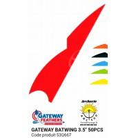 gateway plumes naturelles batwing 3.5 pouces 53q667  (pack de 50)