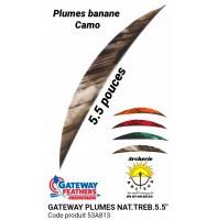 """gateway plumes naturelles banane camo 5.5 """" (pack de 100) 53a813"""