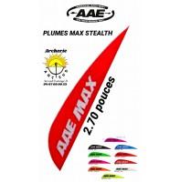 aae plumes plastique max stealth (par 100)