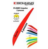 Bohning plumes plastique impulse 3 pouces