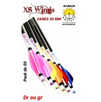 xs wings plumes plastique 50 mm