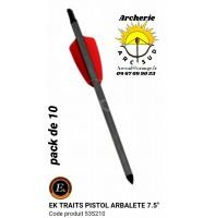 """Ek archery traits 7.5"""" pistolet arbalète cobra r9 ref 53s210 (pack de 10)"""