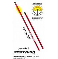 Skorpion traits arbalète alu 53d197 (pack de 6)