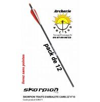 """Skorpion traits arbalète carbone 22 """" 53r071 (pack de 12)"""