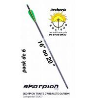 Skorpion traits arbalète carbone 53l437 (pack de 6)