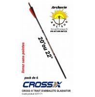 Cross x traits arbalète gladiator 53t171 (pack de 6)