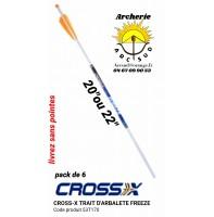 Cross x traits arbalète freeze 53t170 (pack de 6)