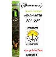 Barnett traits arbalète carbone headhunter (pack de 5)