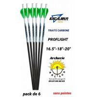 Excalibur traits arbalète carbone proflight (pack de 6)