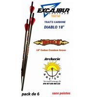 Excalibur traits arbalète carbone diablo 18 (pack de 6)