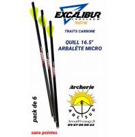 Excalibur traits arbalète carbone quill (pack de 6)