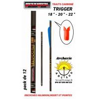 Maximal trait arbalète carbone trigger encoche v (pack de 12)
