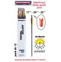Maximal trait arbalète alu total alloy encoche v (pack de 12)