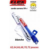Flex archery cordes carrera 99r (blanche)