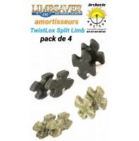 Limbsaver amortiseur twistlox split limb (pack de 4)
