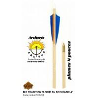 Big tradition flèches bois bassic 53d490 (par 12)