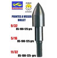 Saunders pointes bullet à visser