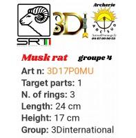 3di bêtes 3d musk rat
