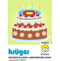 Kruger blason loisir gâteau d'anniversaire 53n072