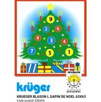 Kruger blason loisir sapin de Noël 53e665