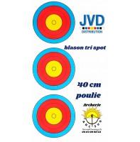 jvd blason tri spot 40 cm ( 10 poulie )