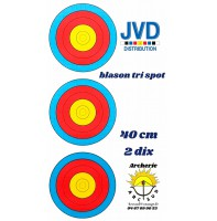 jvd blason tri spot 40 cm ( 2 dix )