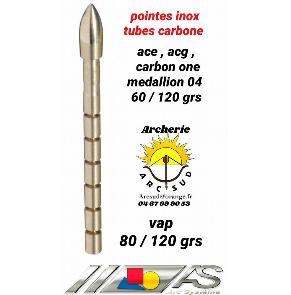 Arc système pointes inox tubes carbon ref f2.303