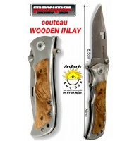 Maximal couteau wooden inlay bois de 20 cm