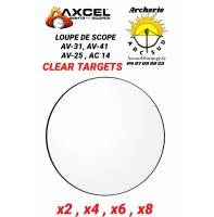 Axcel loupe de scope clear targets