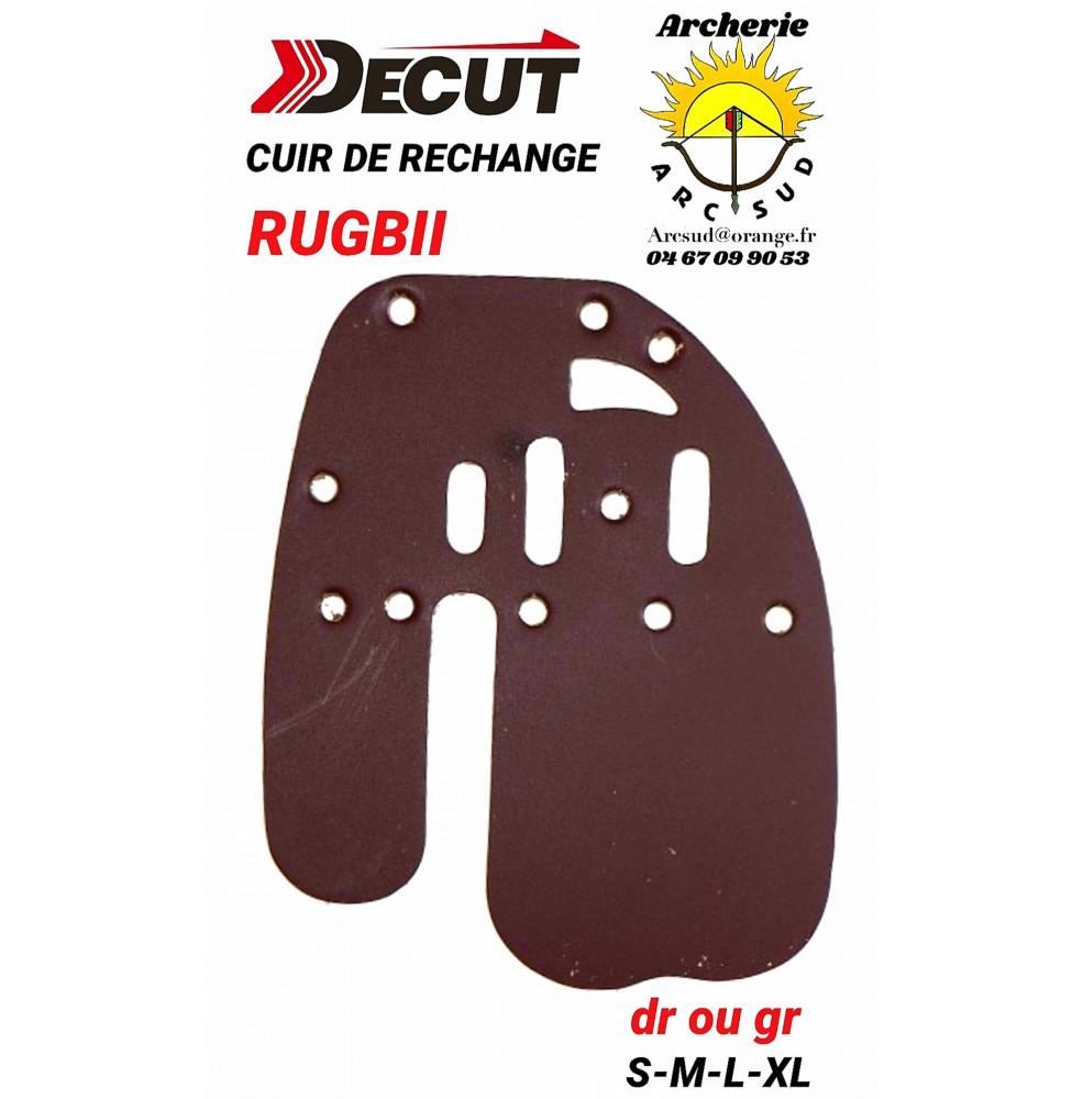 Decut rechange cuir palette rugbii (front-devant)