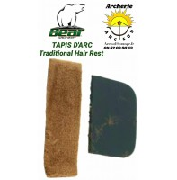 Bear tapis d'arc traditional hair rest