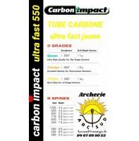 Carbon impact ultra fast jaune ( avec pointes et encohes )