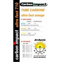 Carbon impact ultra fast orange ( avec pointes et encohes )