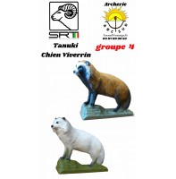 Srt bêtes 3D tanuki chien Viverrin