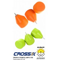 Cross x pointe à visser caoutchouc archery touch 53t169 (pack de 3)