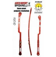 Spigarelli destokage lames poignée révolution droite rouge