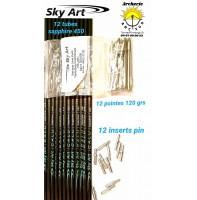 Sky art déstockage tubes carbon alu sapphire 450 (par 12)