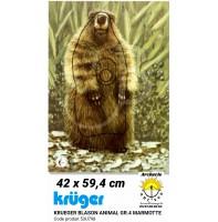 Kruger blason animal marmotte 53u798