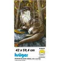 Kruger blason animal loutre 53u801
