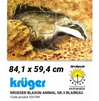 Kruger blason animal blaireau 53u789