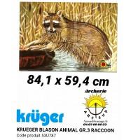 Kruger blason animal raton laveur 53u787