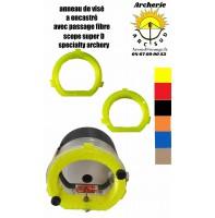 accessoire scope spécialty archery anneau de visé à encastré avec passage fibre